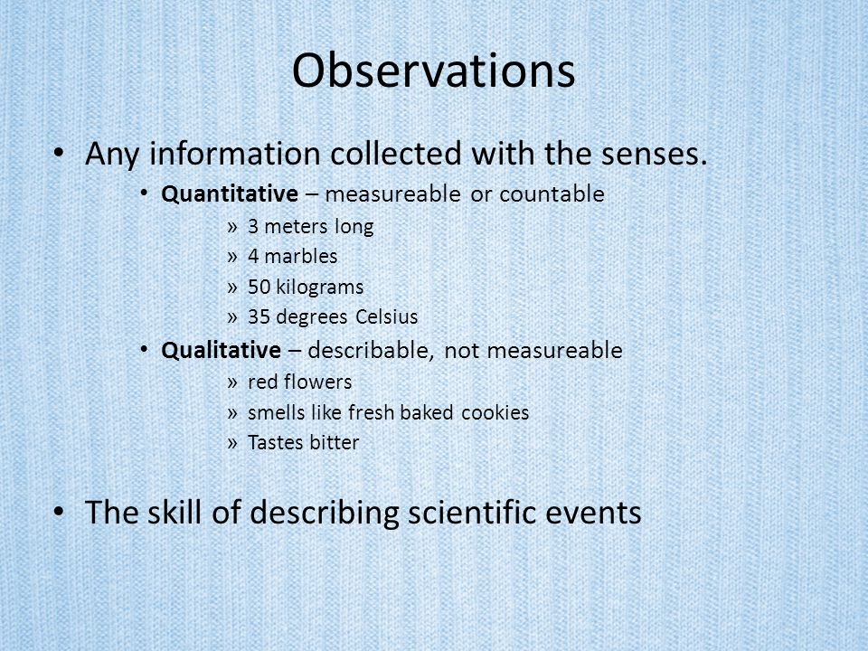 The Scientific Method Hypothesis- You predict what you think the answer to your question might be.
