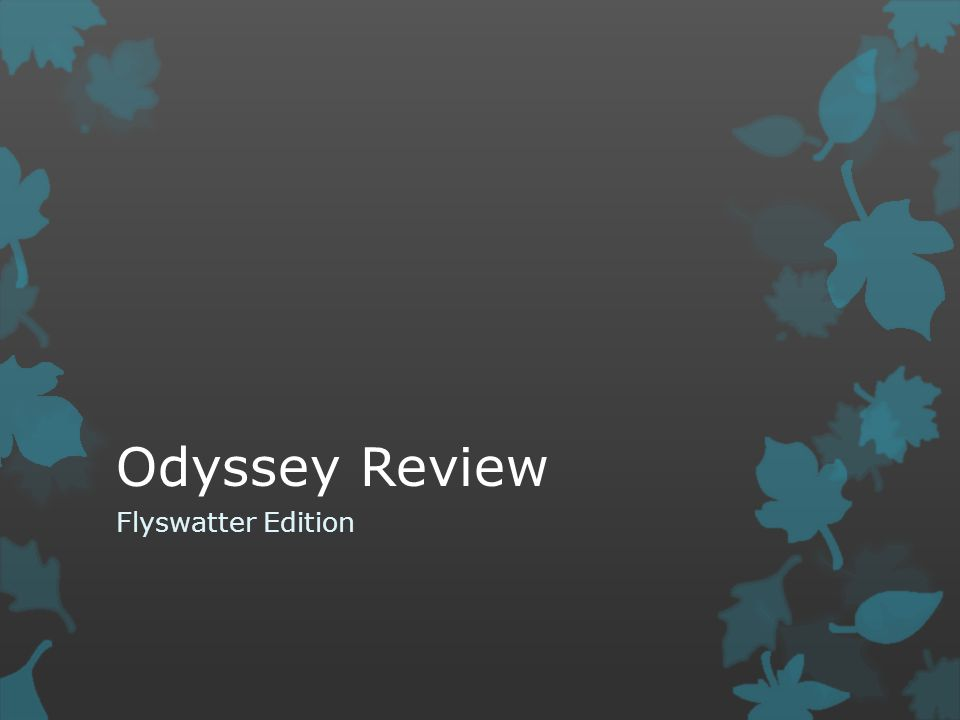 Odyssey Review Flyswatter Edition