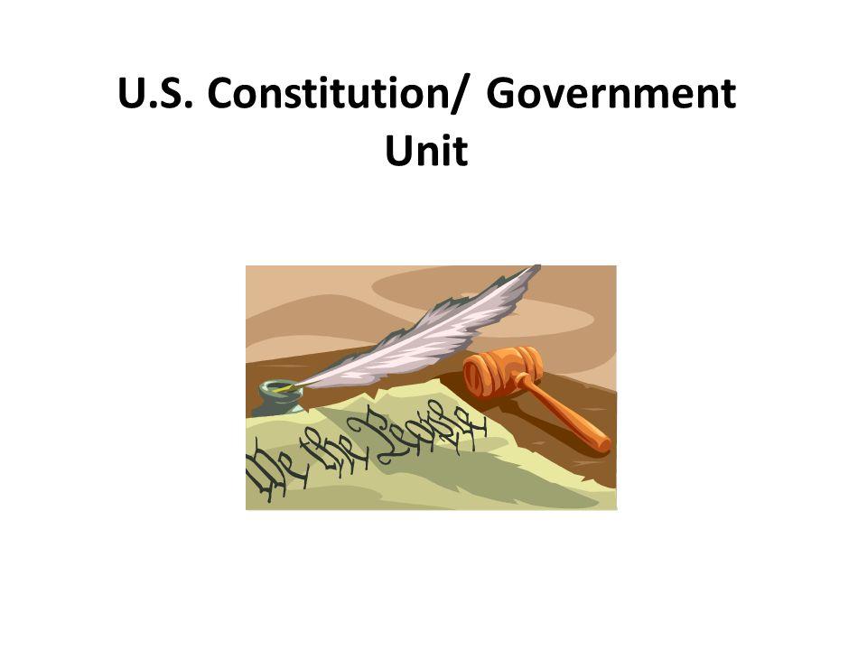 U.S. Constitution/ Government Unit