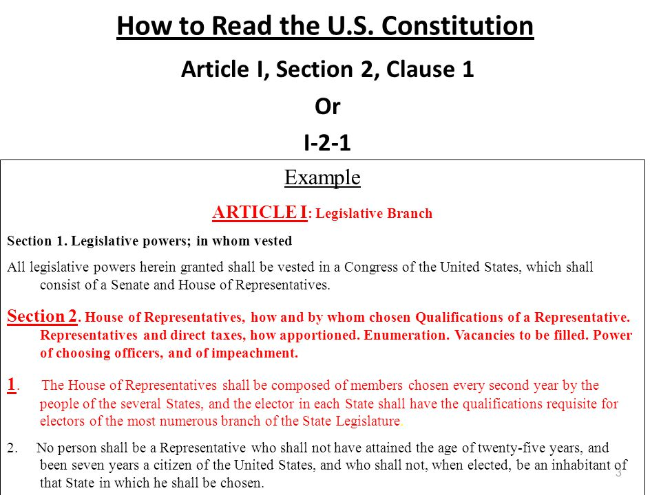 How to Read the U.S.