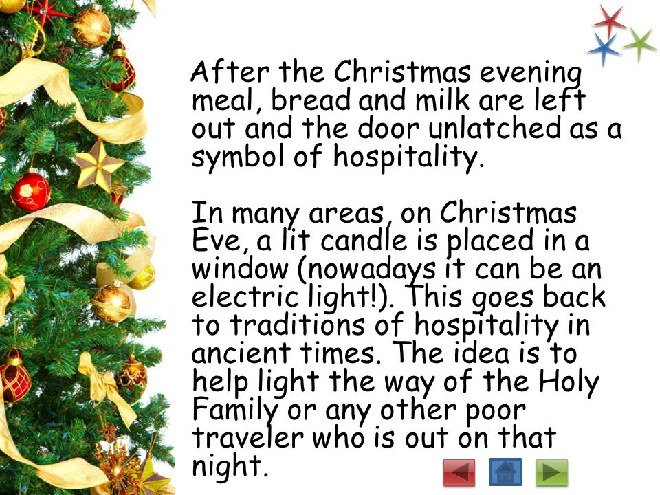 Ireland's Christmas Ireland's Christmas is more religious than a time of fun. Irish women bake a seed cake for each person in the house. They also mak