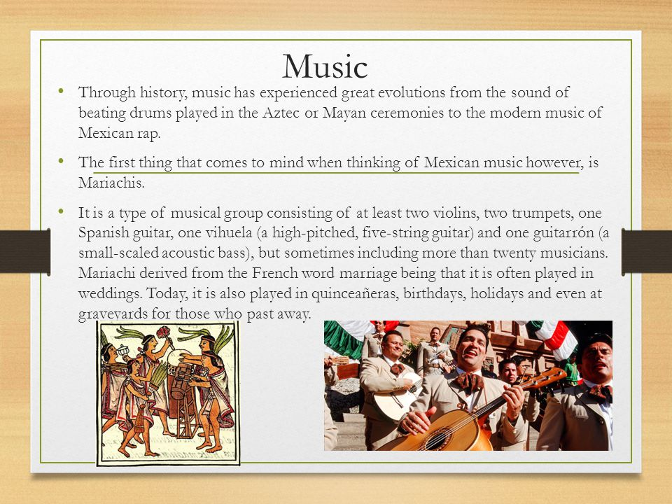 Bibliography Brief History Retrieved from http://www.history.com/topics/mexico/mexico-timeline Traditional Mexican Music.