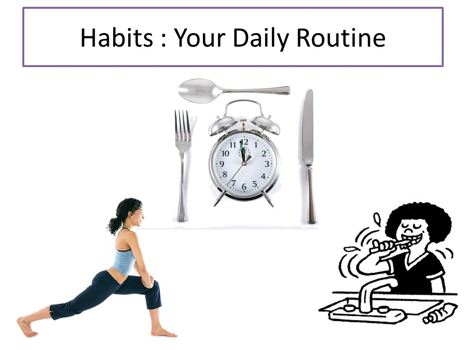 Habits : Your Daily Routine