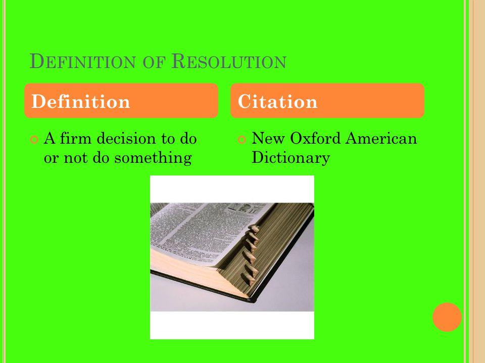 M Y 3 R ESOLUTIONS Personal Resolution School Resolution World Resolution