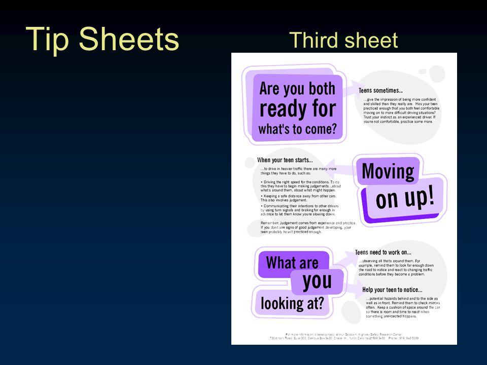 Tip Sheets Third sheet