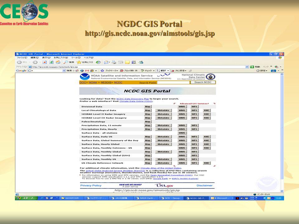 NGDC GIS Portal http://gis.ncdc.noaa.gov/aimstools/gis.jsp