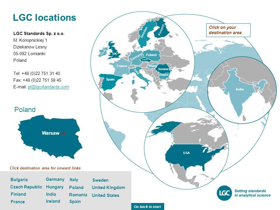 Poland Warsaw LGC Standards Sp.z o.o. M.