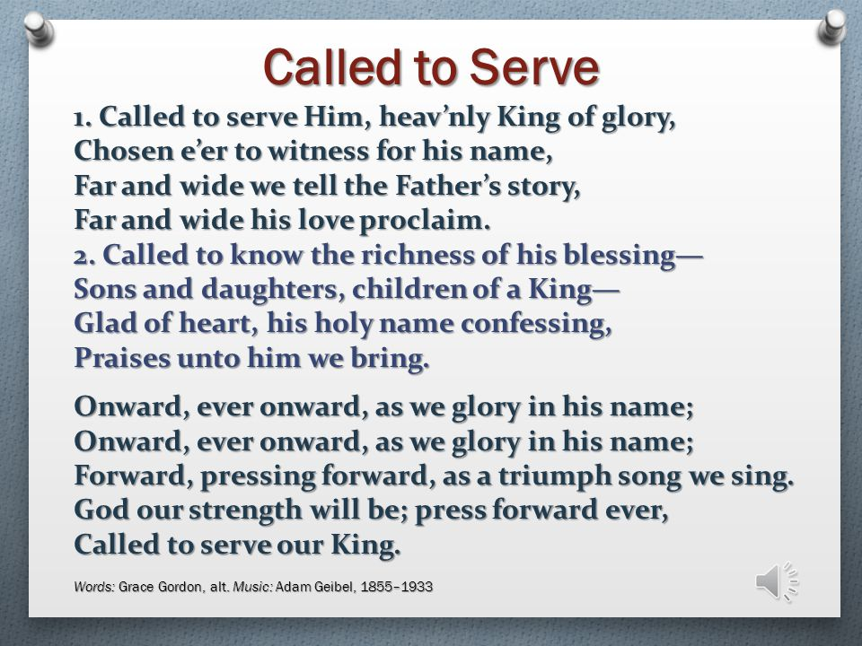Called to Serve 1.