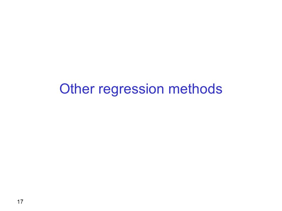 17 Other regression methods