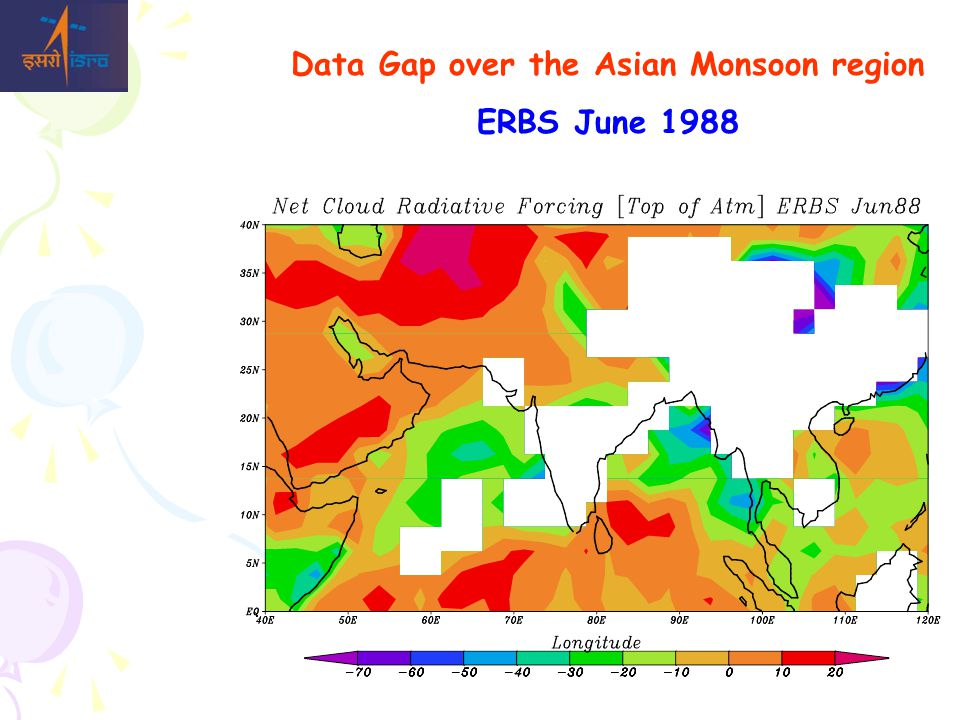 Data Gap over the Asian Monsoon region ERBS June 1988