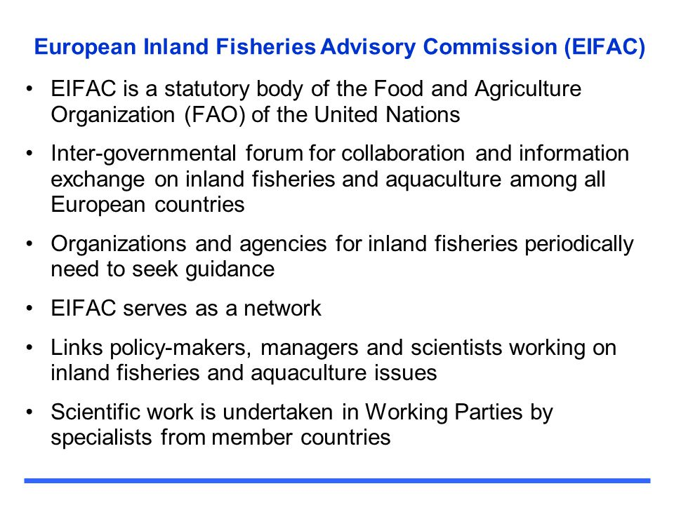EIFAC Working Party Publications Recent example CoP Recreational Fisheries Working Party output Well received Being translated into many local languages