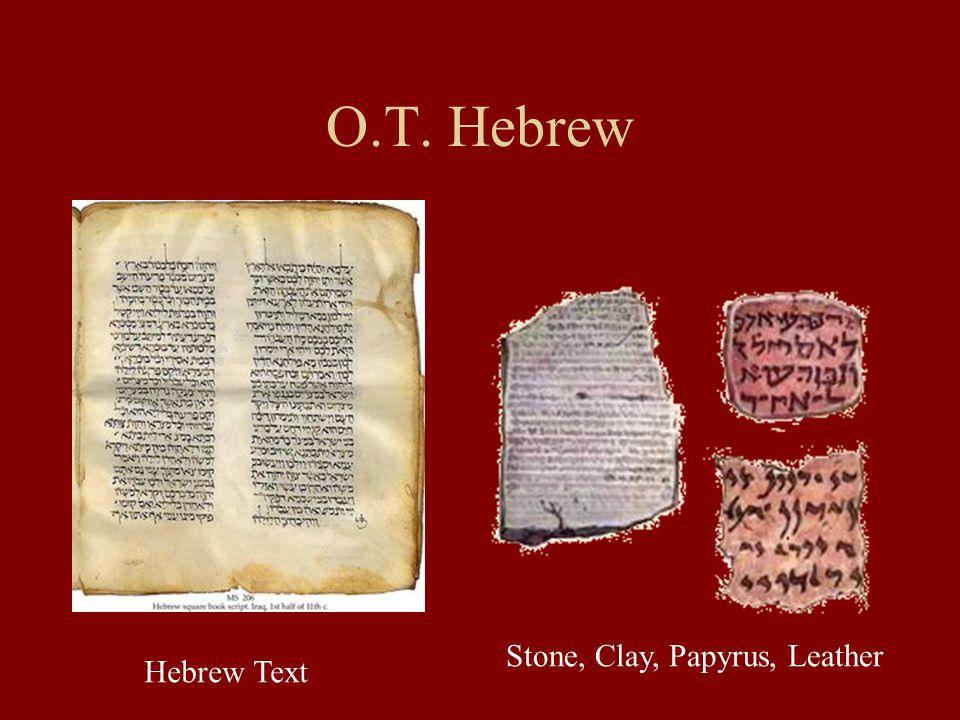 Preserving the Hebrew Scriptures The Massoretes, ca.