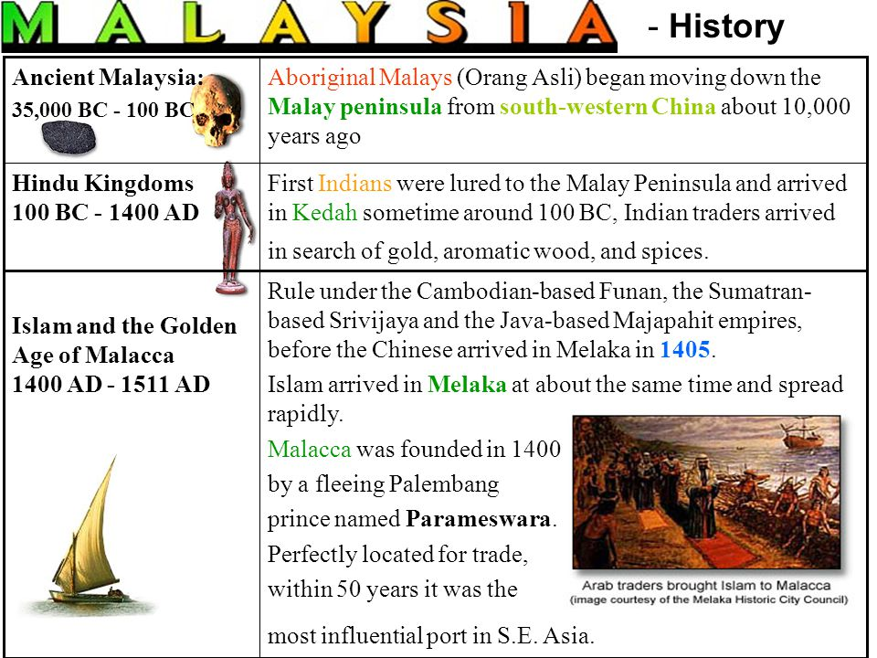 First Indians were lured to the Malay Peninsula and arrived in Kedah sometime around 100 BC, Indian traders arrived in search of gold, aromatic wood,