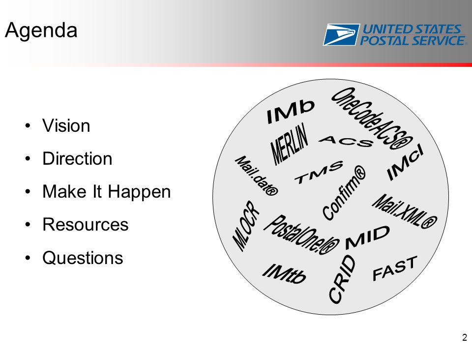 Agenda Vision Direction Make It Happen Resources Questions 2