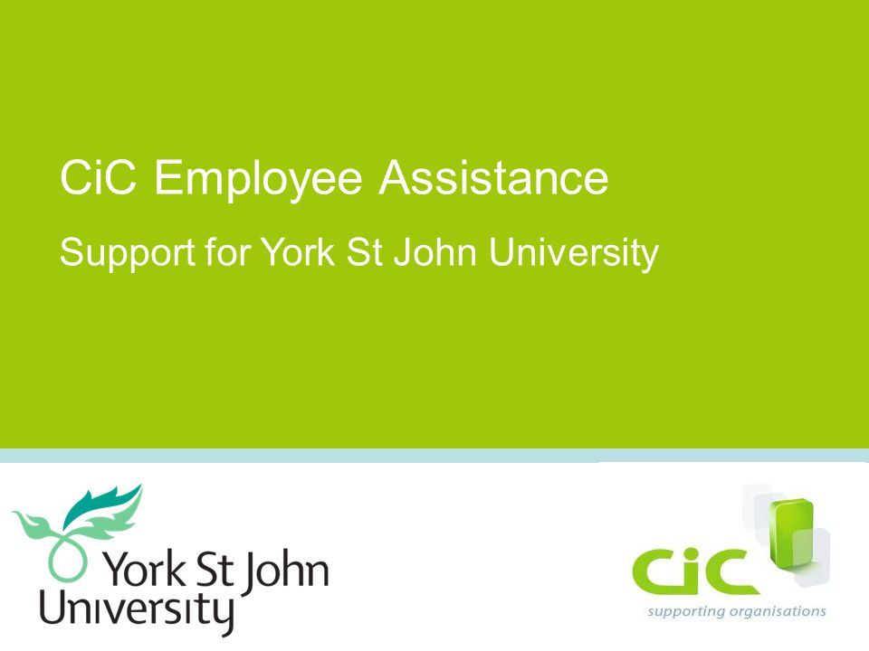 CiC Employee Assistance Support for York St John University
