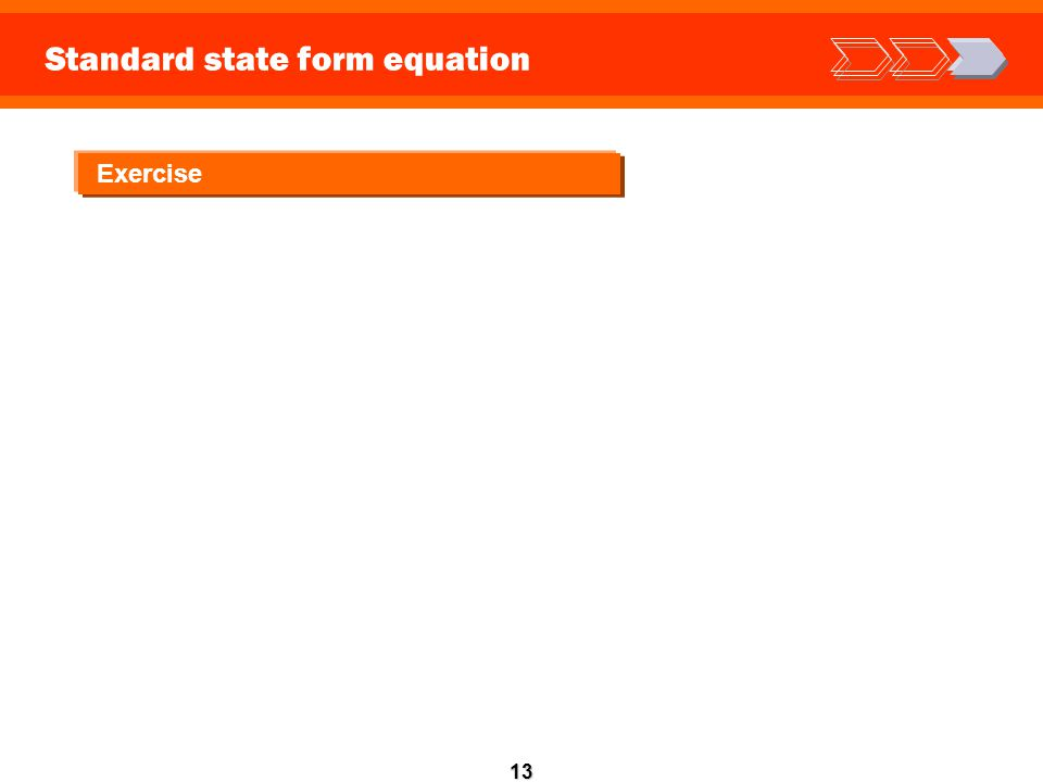 13 Standard state form equation Exercise