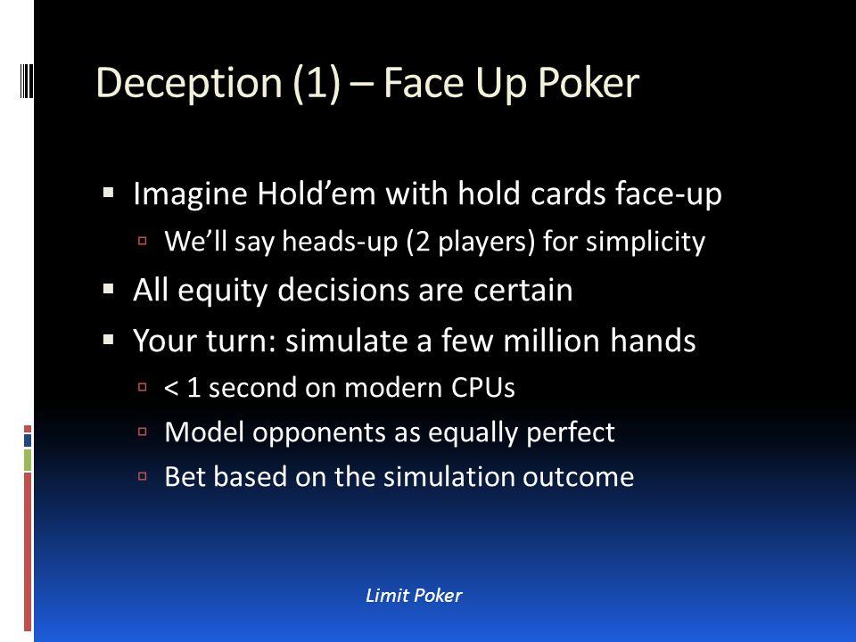 Bibliography (1 of 2)  U of Alberta (CA) Poker Research Group:  http://poker.cs.ualberta.ca/ http://poker.cs.ualberta.ca/  Scroll to Publications.