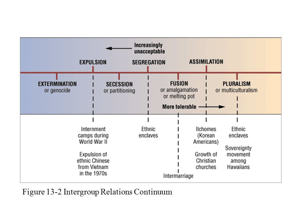 Figure 13-2 Intergroup Relations Continuum