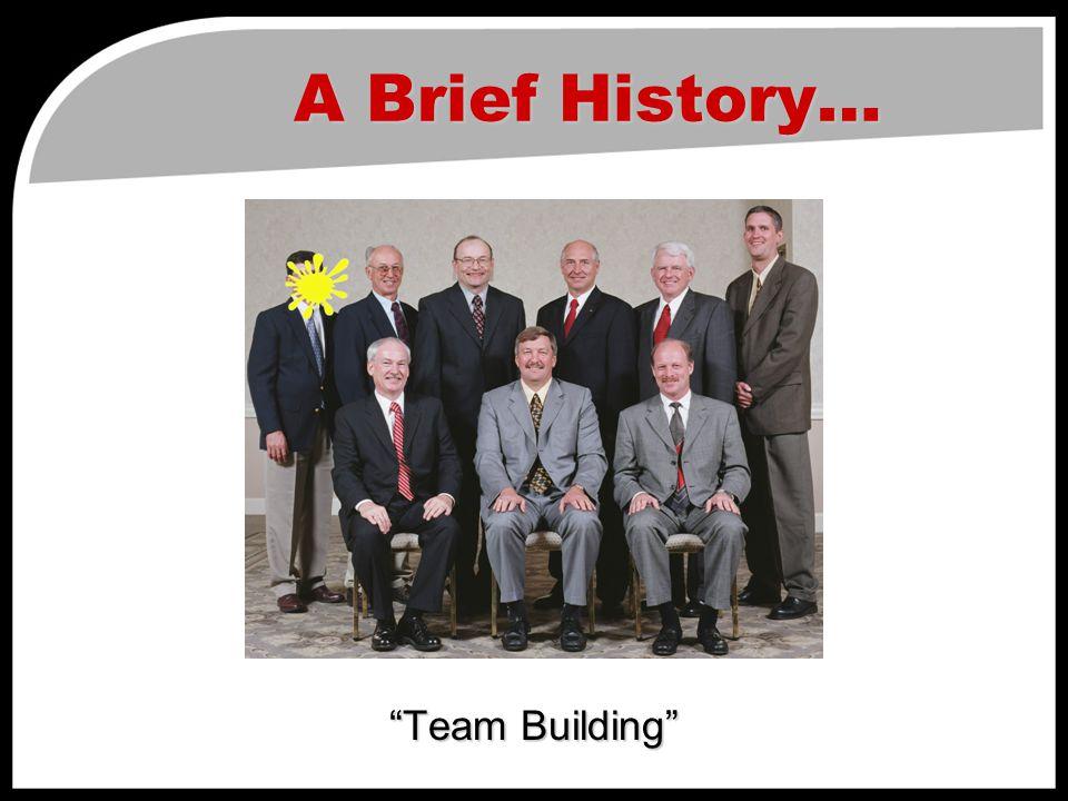 A Brief History… Team Building