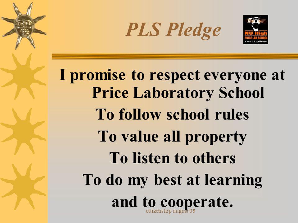 citizenship august 05 PLEDGE OF ALLEGIANCE