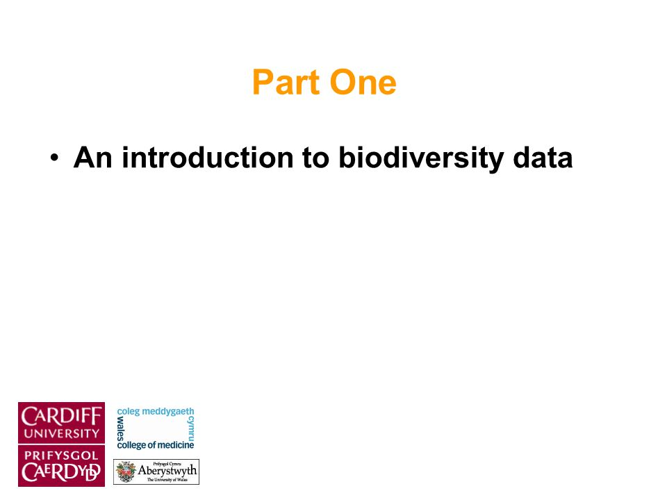 Part One An introduction to biodiversity data