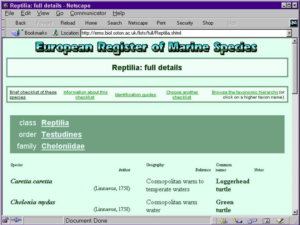 Reptilia: full details