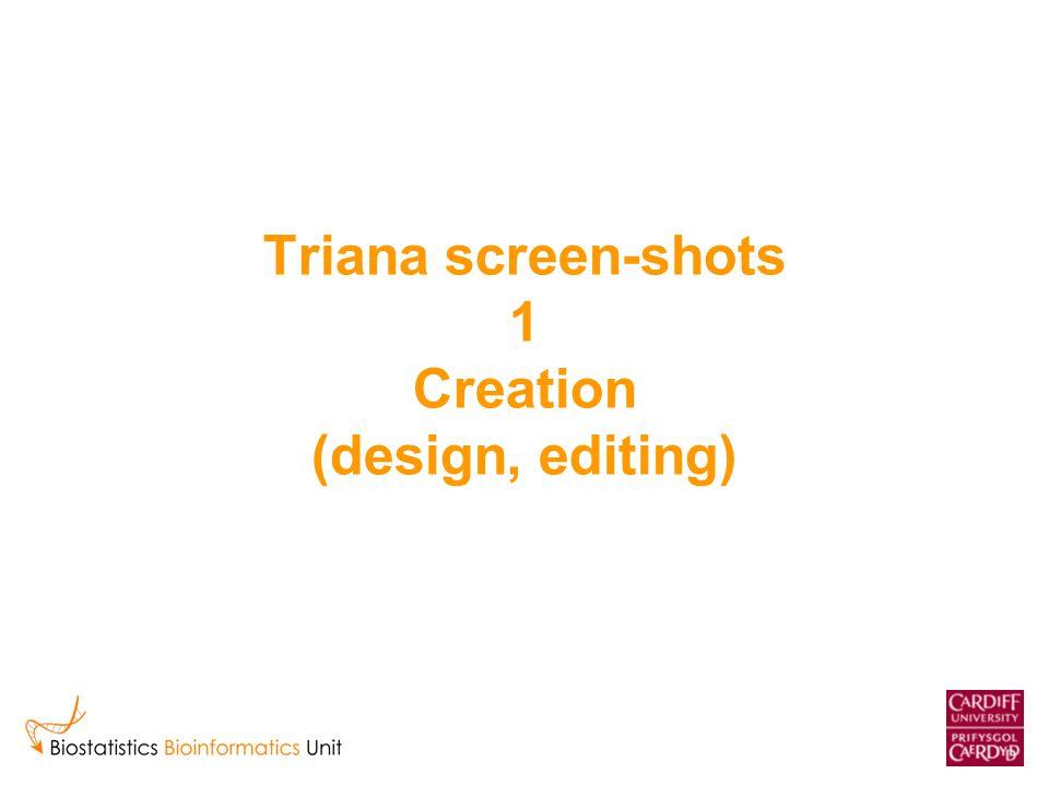 Triana screen-shots 1 Creation (design, editing)