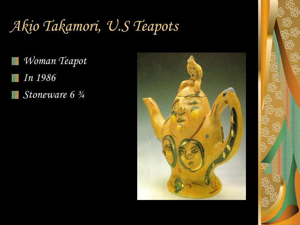 Akio Takamori, U.S Teapots Woman Teapot In 1986 Stoneware 6 ¾