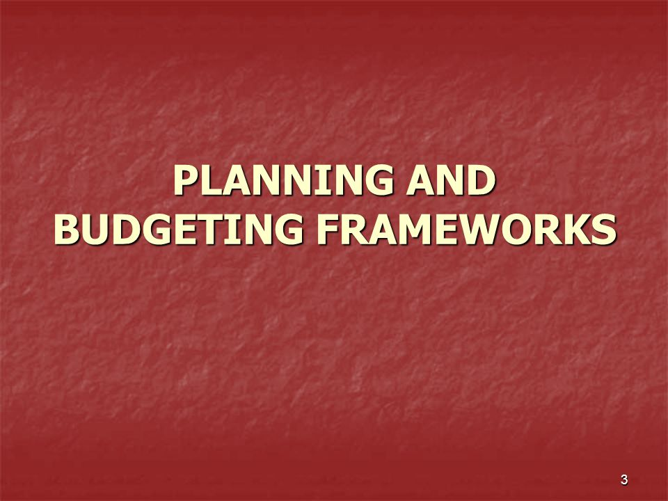 4 RULES AND REGULATIONS LAW 25 : NATIONAL DEV'T PLANNING LAW 25 : NATIONAL DEV'T PLANNING SYSTEM SYSTEM REGULATORY INTERVENTION REGULATORY INTERVENTION BUDGET INTERVENTION (app.