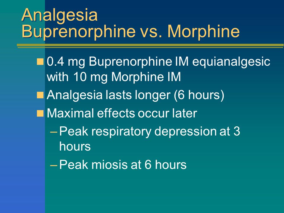 Analgesia Buprenorphine vs.