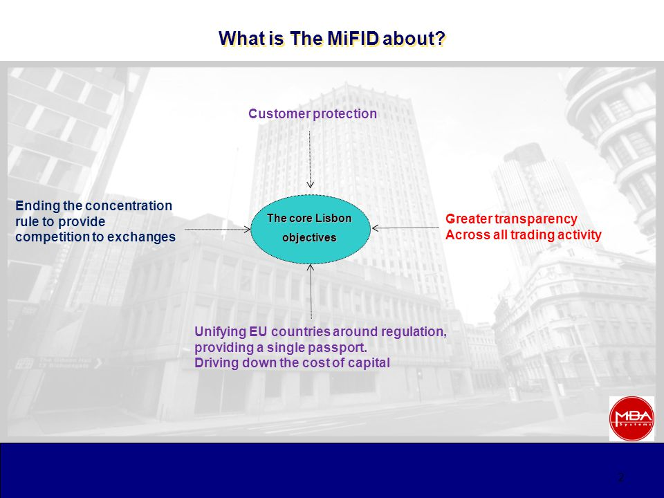 The MiFID and the Markets - Unleashing the Trading Forces September 2008 Mike Jones September 2008 Mike Jones