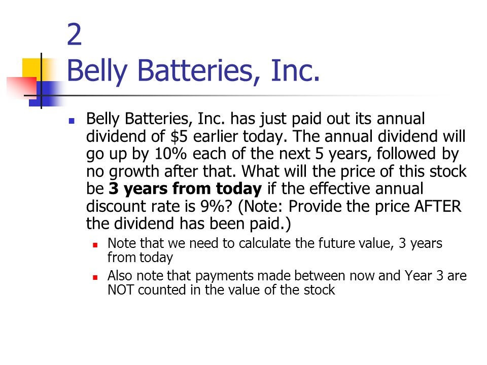 2 Belly Batteries, Inc. Belly Batteries, Inc.