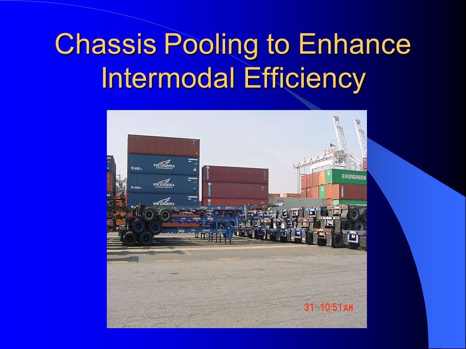 Chassis Pooling to Enhance Intermodal Efficiency