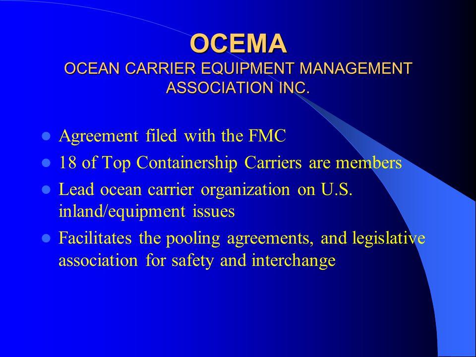 OCEMA OCEAN CARRIER EQUIPMENT MANAGEMENT ASSOCIATION INC.