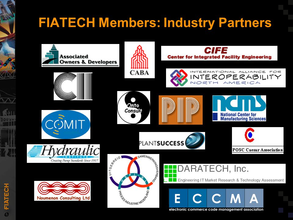 FIATECH's Role  Accelerating integration and automation –Deployment Projects  Developing industry- wide RD&D agenda –Capital Projects Technology Roadmap  Coalescing industry, industry associations, and funding agencies around the plan