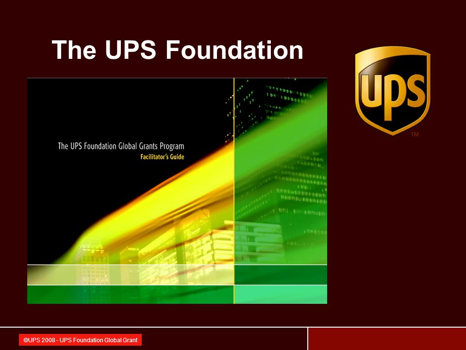 42 ©UPS 2008 - UPS Foundation Global Grant Foundation for the Blind in Thailand under the Patronage of H.M.