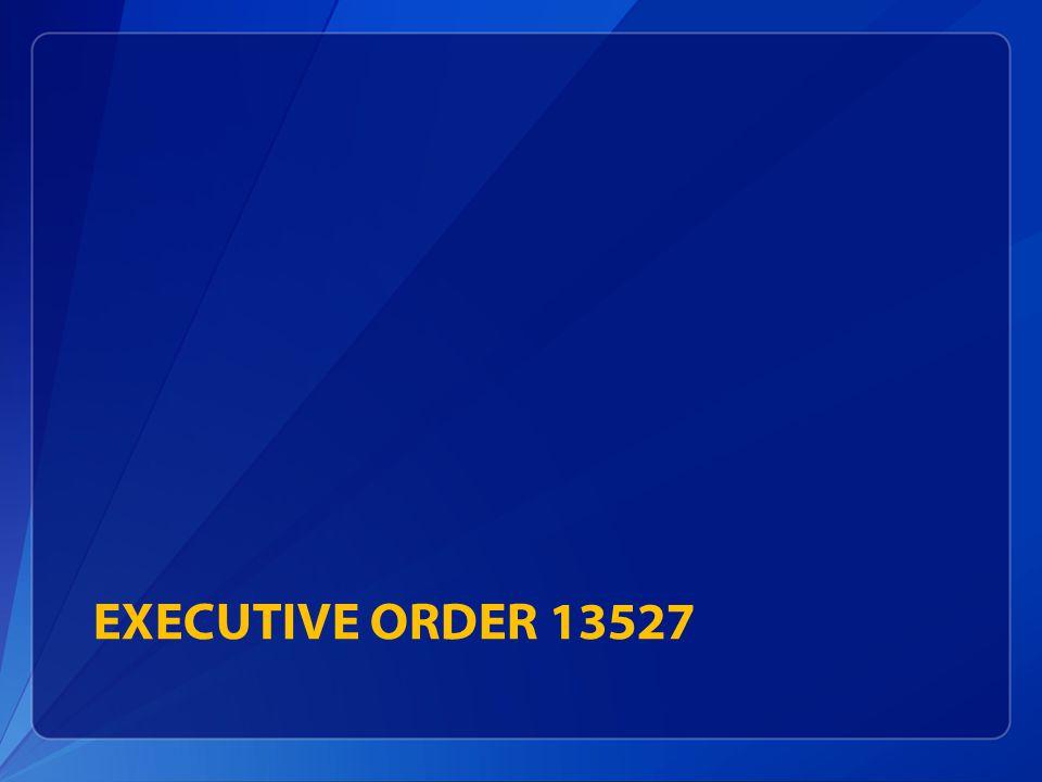 EXECUTIVE ORDER 13527