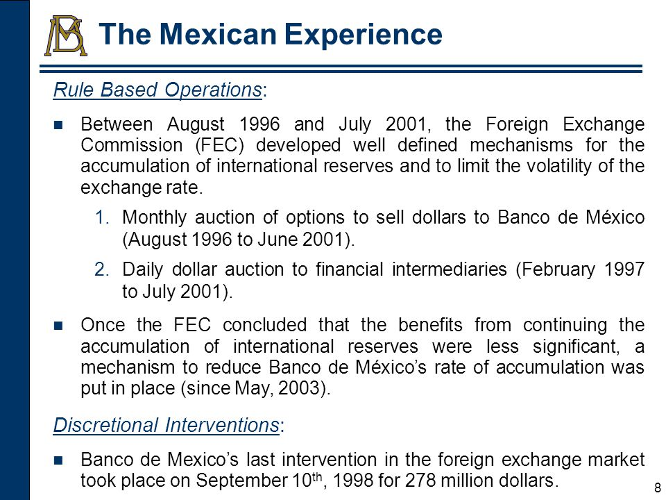 9 Net International Reserves (Billion Dollars) Red lines represent dates when Moodys improved Mexico's credit ratings.
