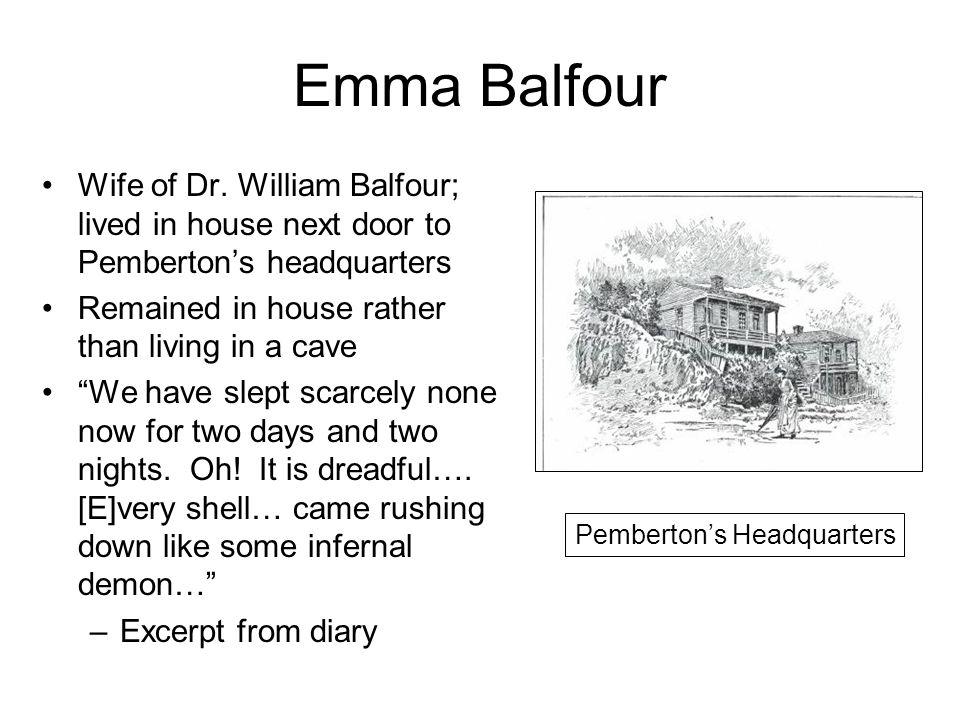Balfour House Shell damage