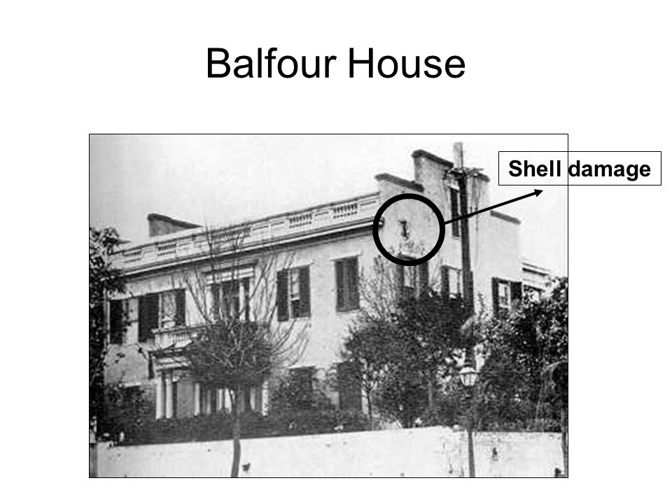 Balfour House Shell damage