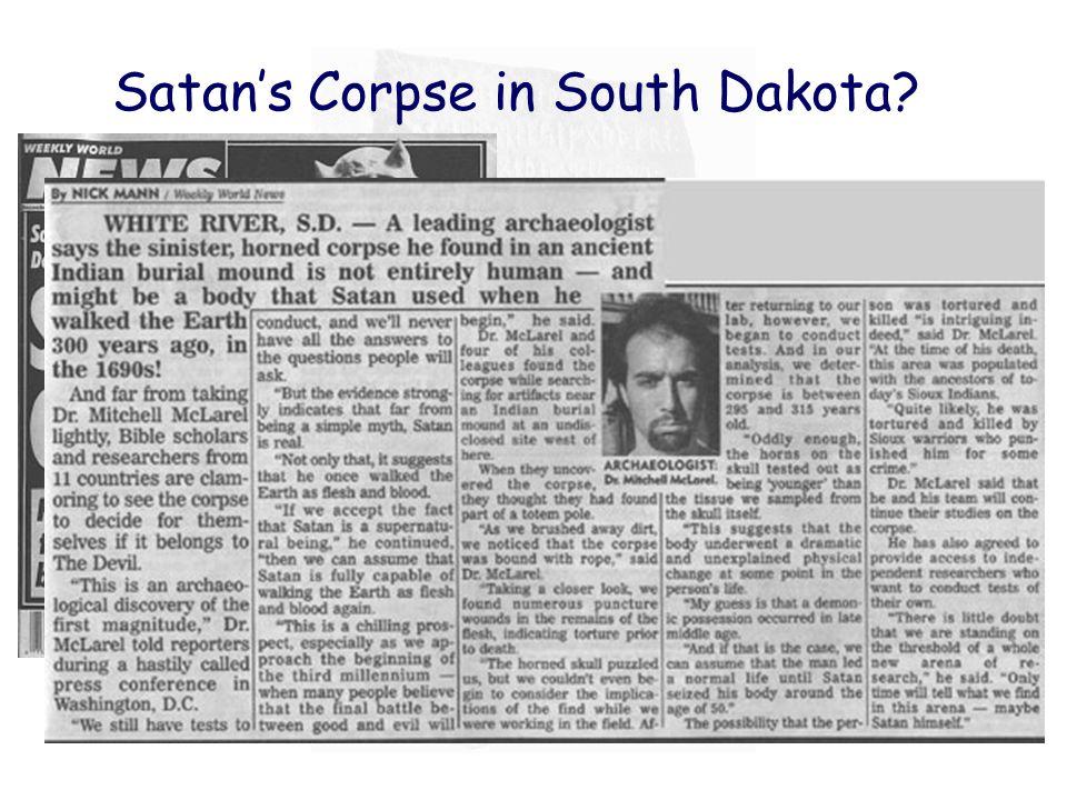 Satan's Corpse in South Dakota?