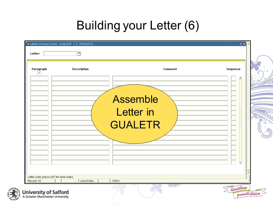 Building your Letter (5) Create Paragraphs in GUAPARA