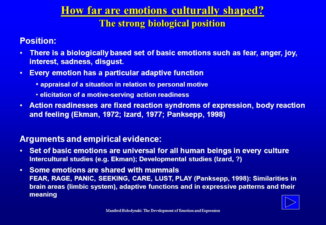How far are emotions culturally shaped.