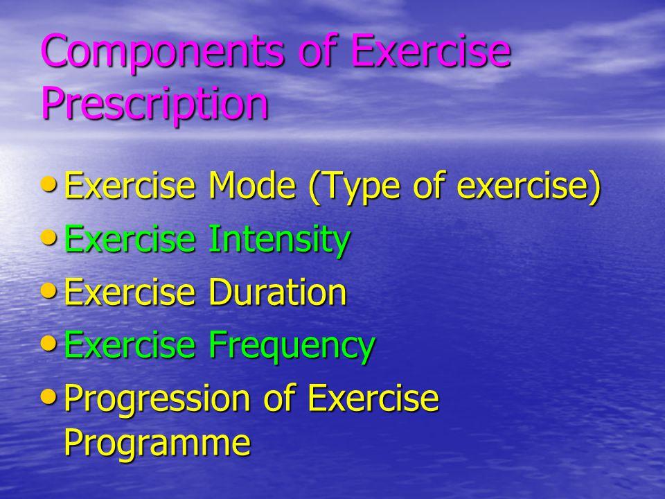 Aerobic Exercise Prescription