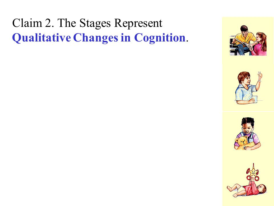 Claim 2. The Stages Represent Qualitative Changes in Cognition.