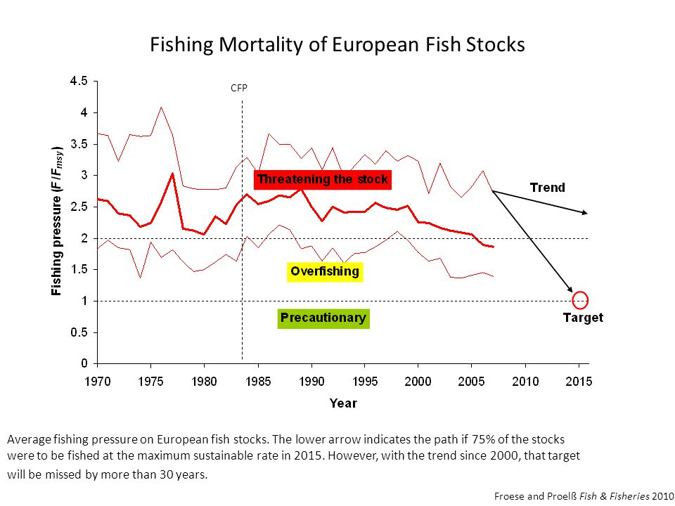 Fishing Mortality of European Fish Stocks Average fishing pressure on European fish stocks.