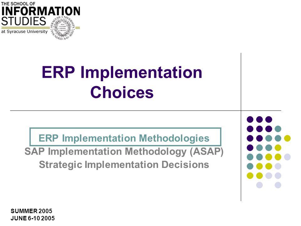 IST 600 ERP Systems: Key Implementation Issues U. Yeliz Eseryel Phase-4 Final Preparation