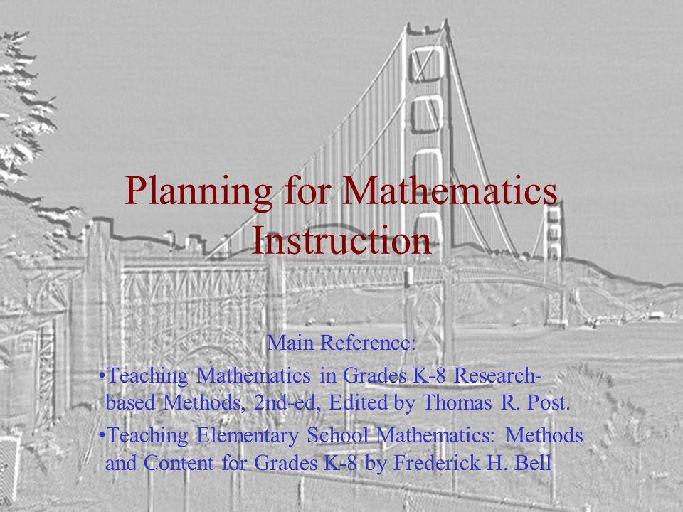 A Sample Lesson Plan Pp. 133-134 Bell, 1980