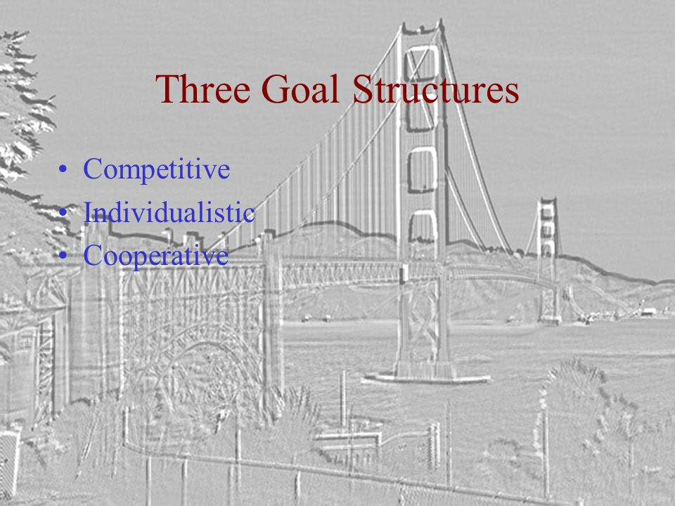 Three Goal Structures Competitive Individualistic Cooperative