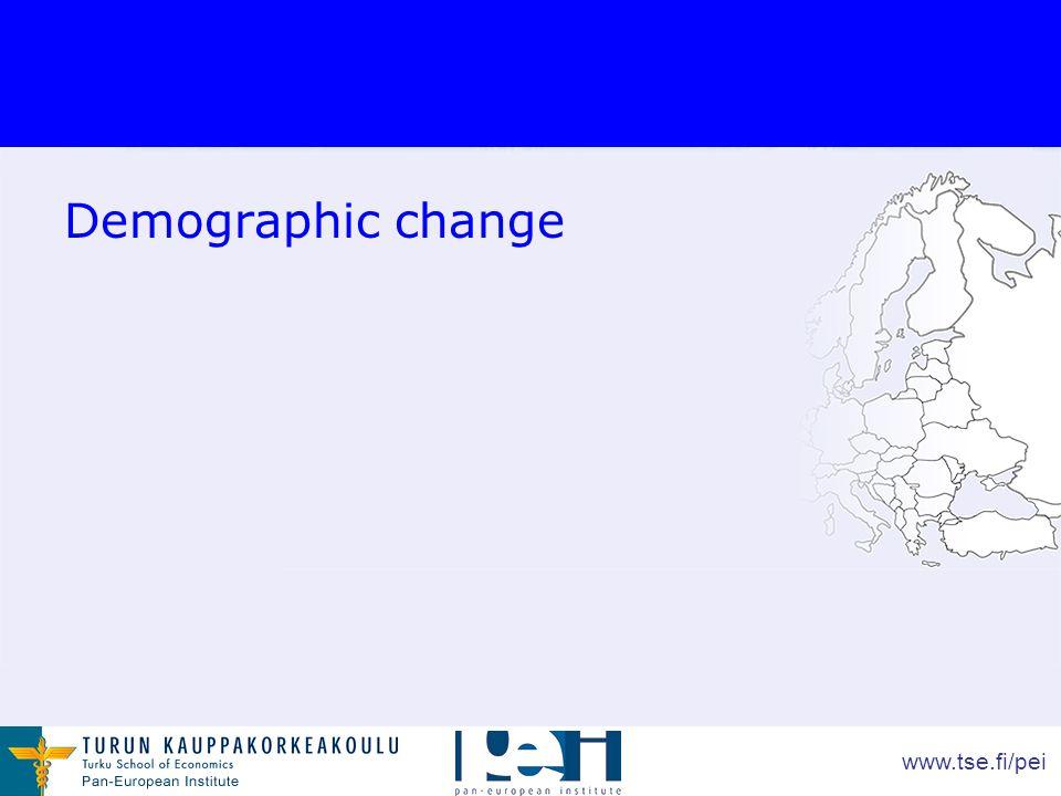 www.tse.fi/pei Demographic change